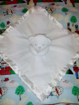 PERSONALISED BABY COMFORTER - White Teddy - Personalise With a Name Of Your Choice